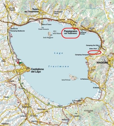 Lago trasimeno map